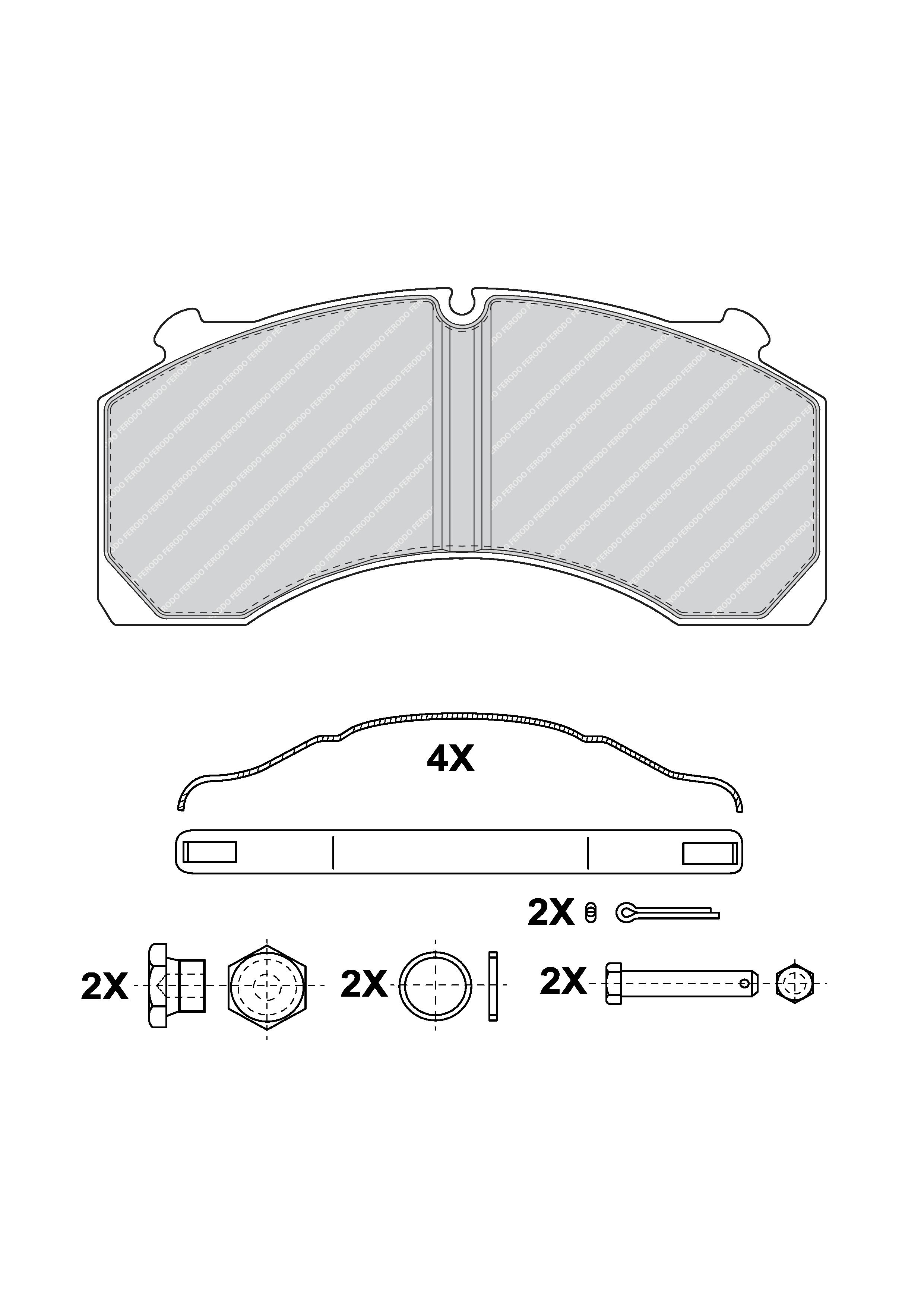 PREMIER Brake Pad Set, disc brake